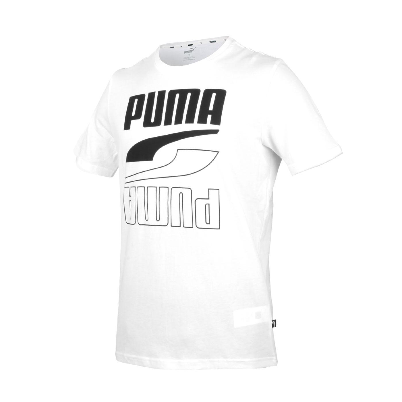 PUMA 男款基本系列短袖T恤 58348801 - 白黑