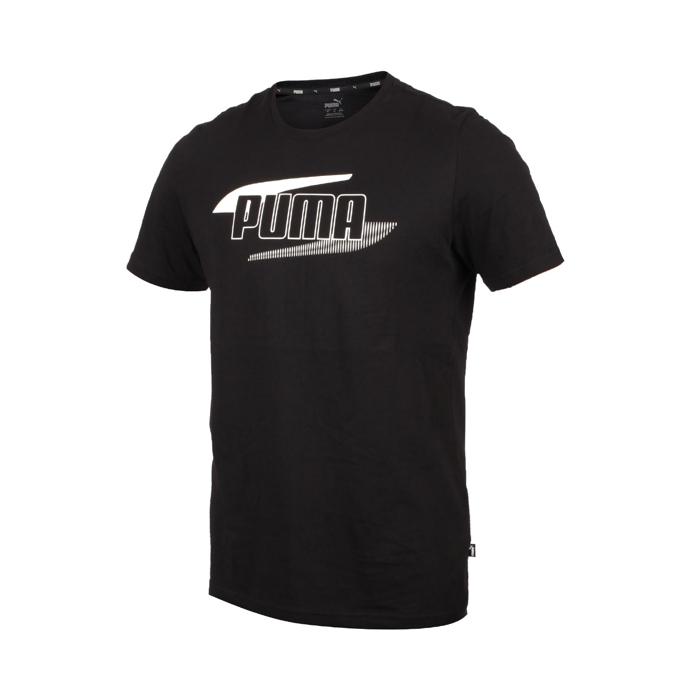 PUMA 男款短袖T恤 58348851 - 黑米白