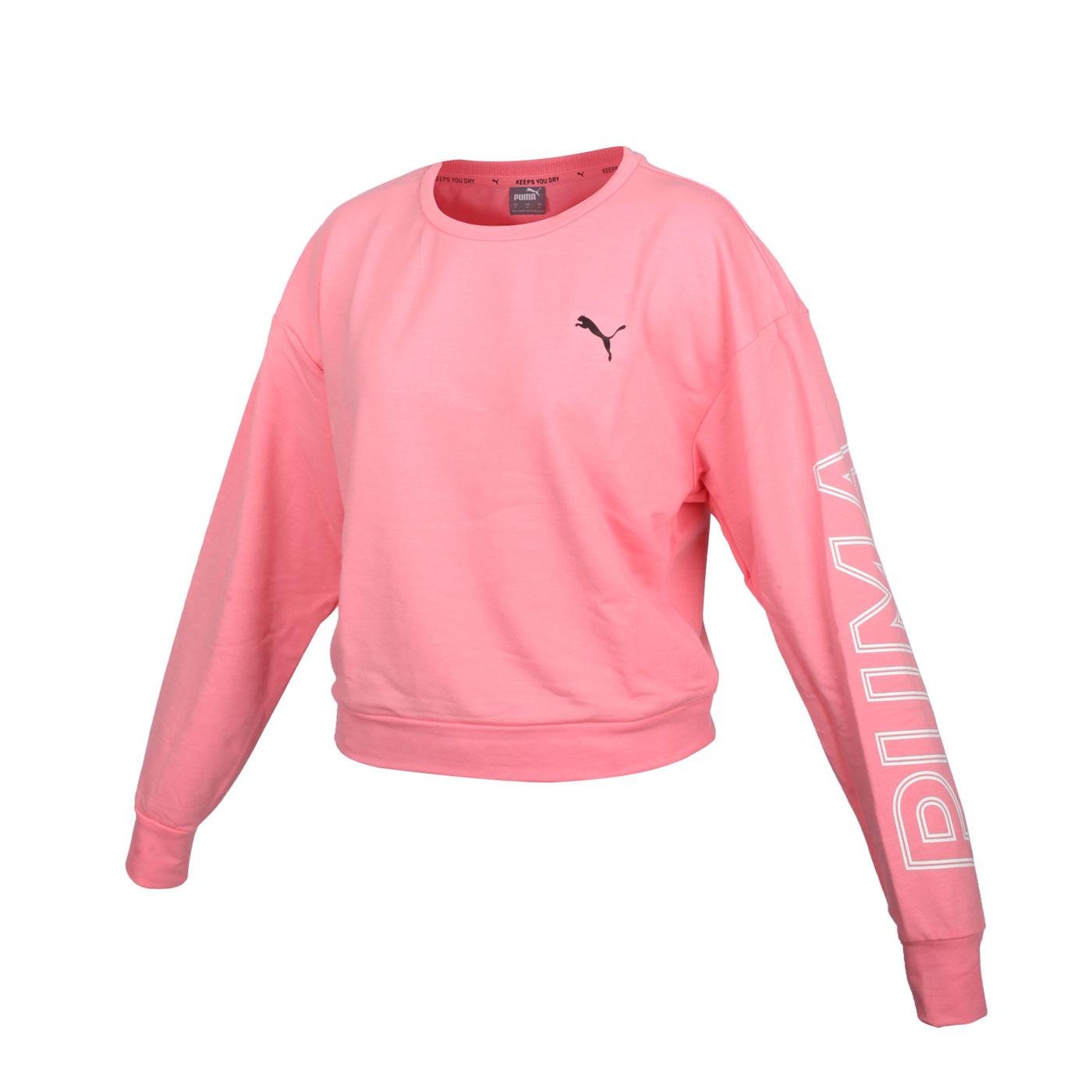 PUMA 女款基本系列短版長袖T恤 58353927 - 粉紅黑