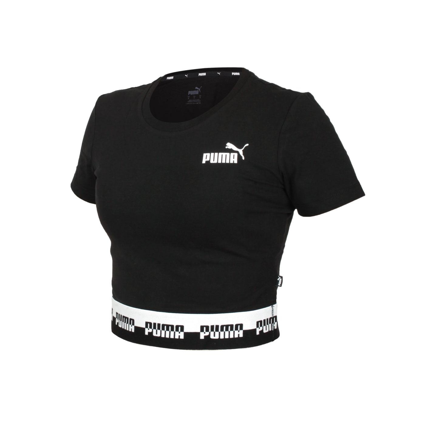 PUMA 女款短版短袖T恤 58590601 - 黑白
