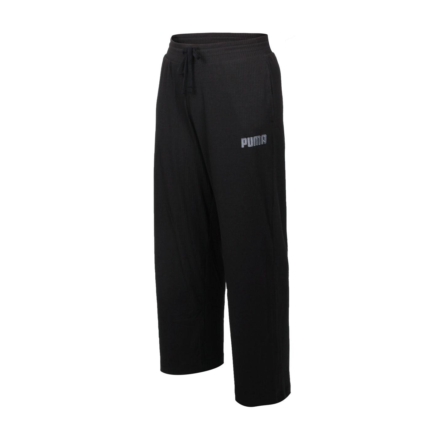 PUMA 女款基本系列Modern Basics羅紋寬褲 58593801 - 黑灰