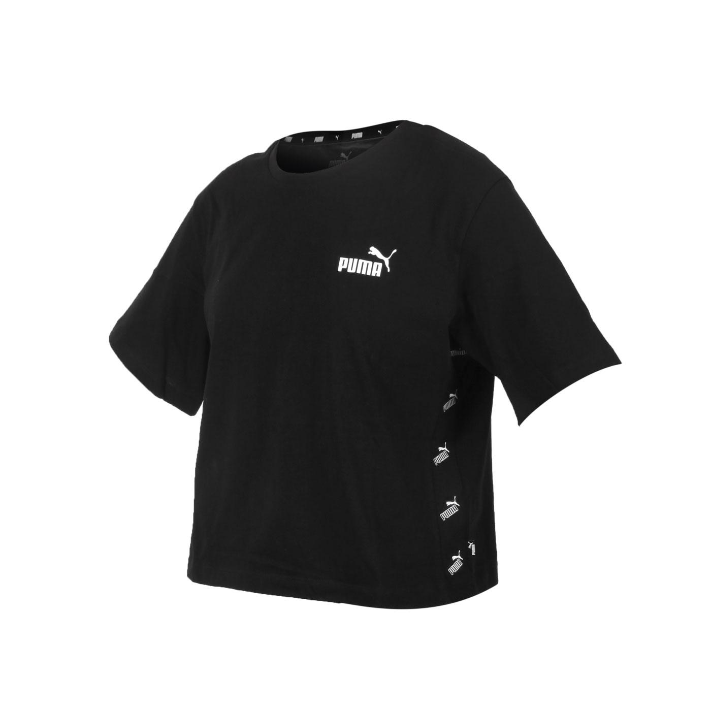 PUMA 女款基本系列短版短袖T恤 58659701 - 黑白