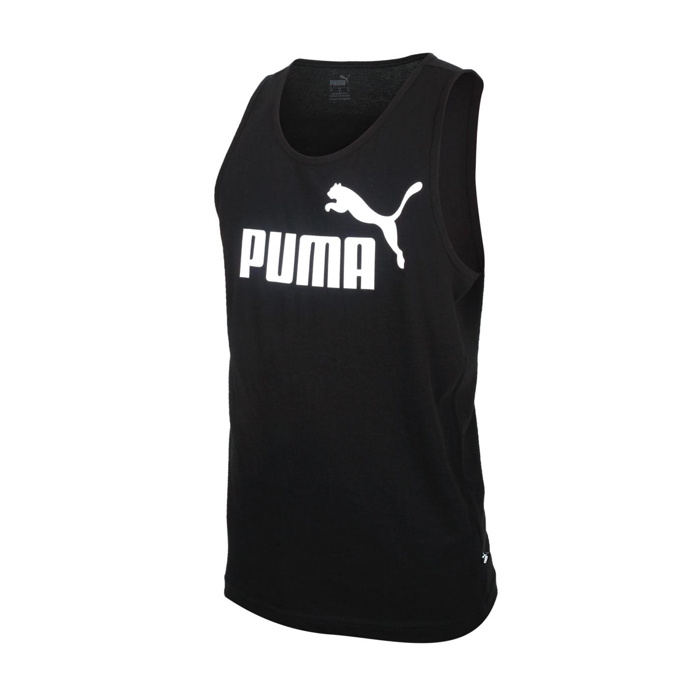 PUMA 男款Logo休閒背心 58667001 - 黑白