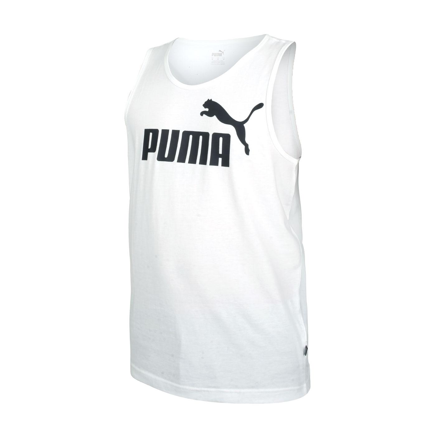 PUMA 男款Logo休閒背心 58667002 - 白黑