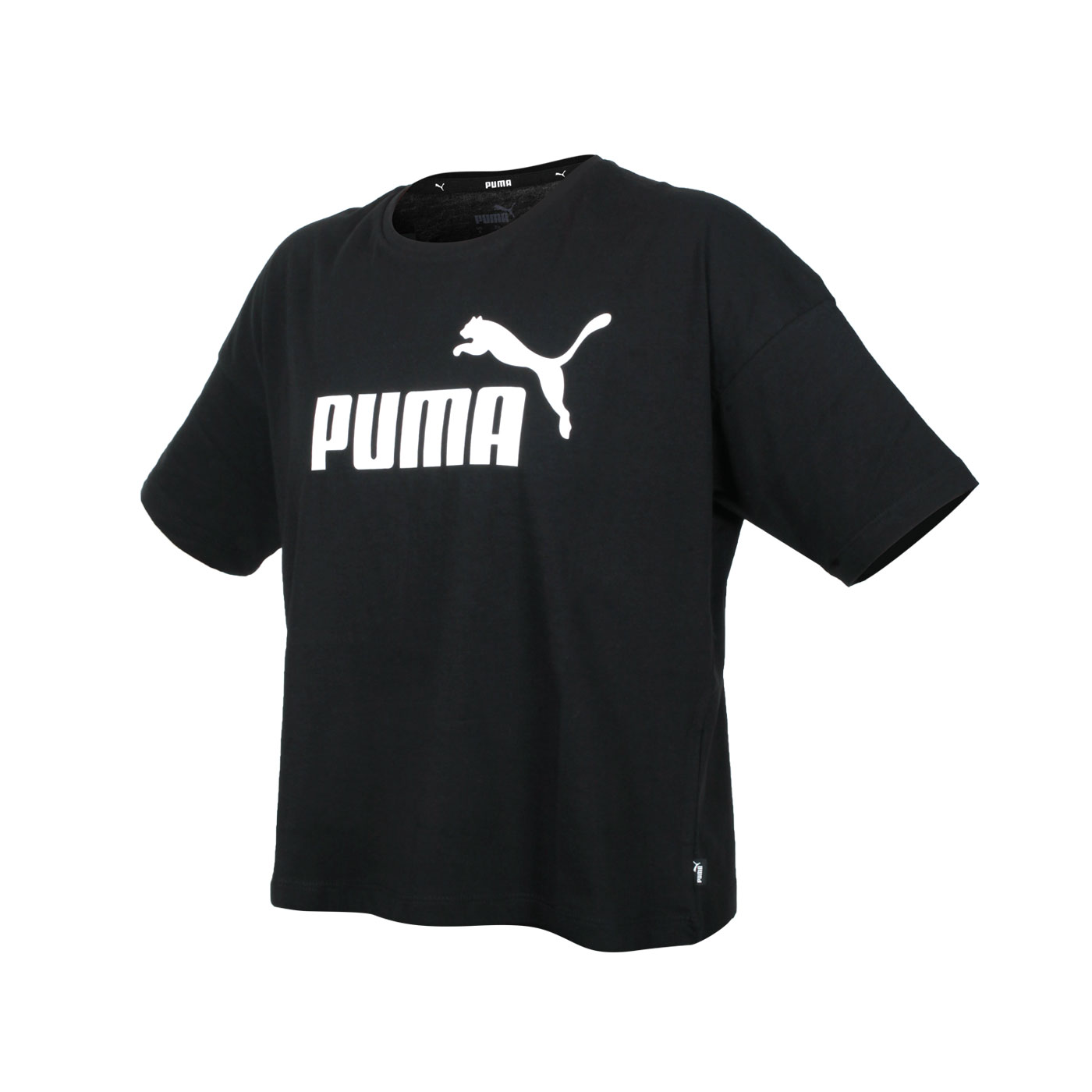PUMA 女款短版短袖T恤 58686601 - 黑白