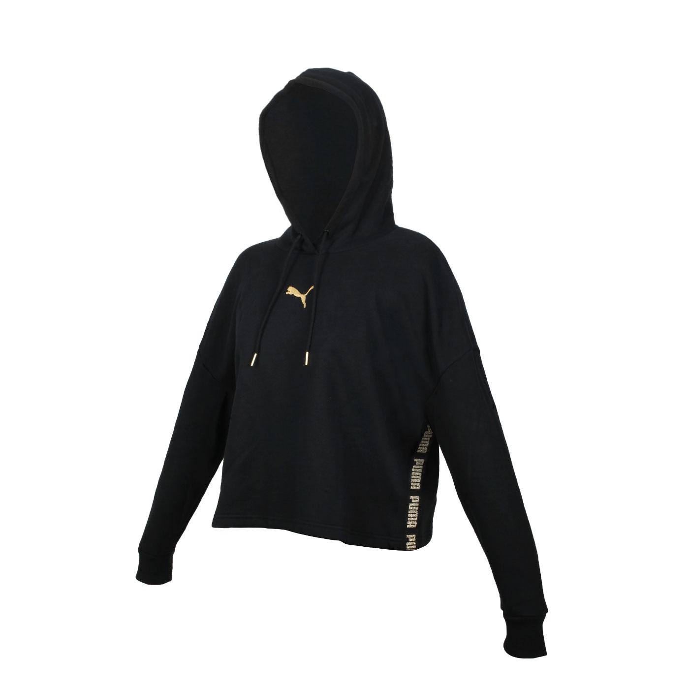 PUMA 女款長厚連帽T恤 58714801 - 黑金