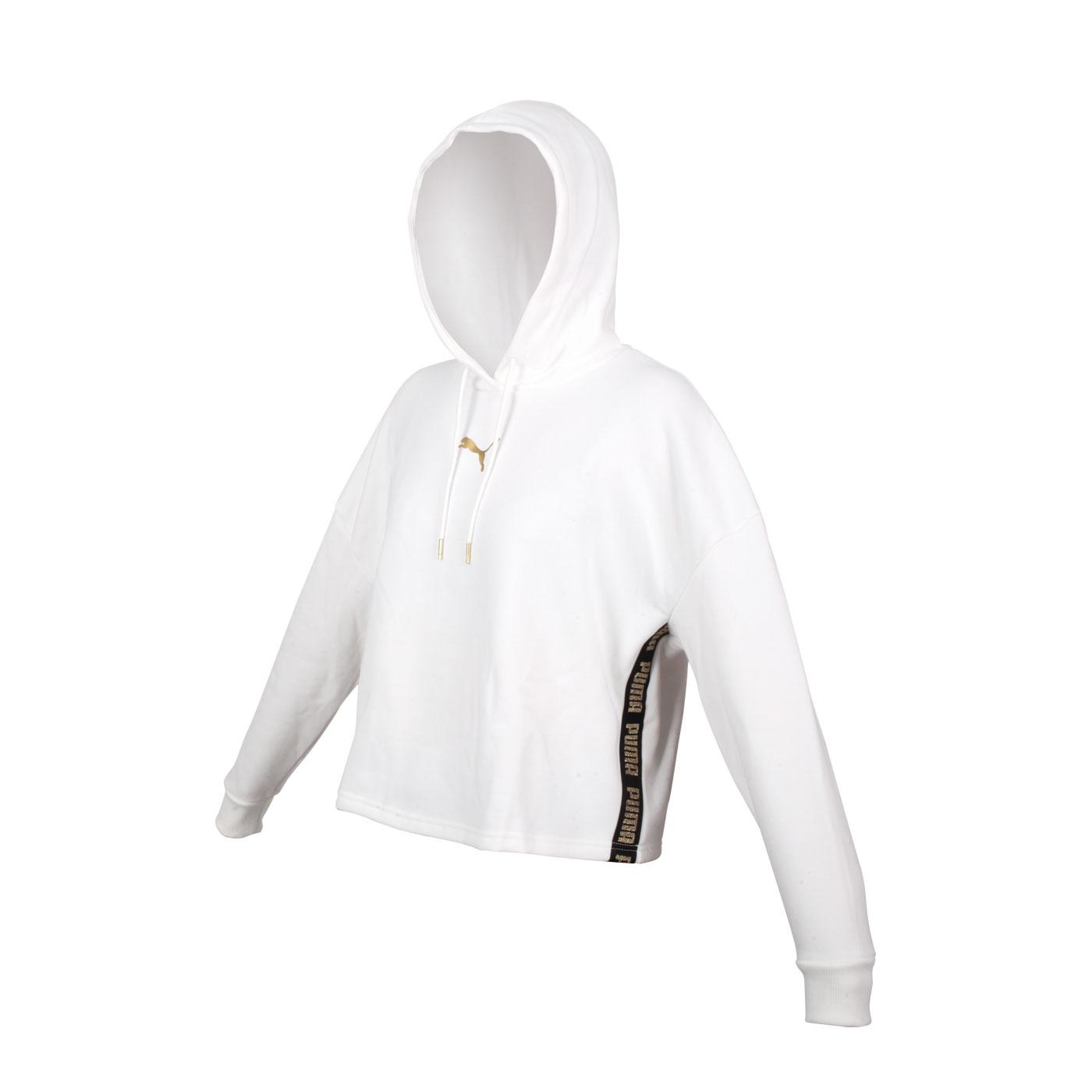 PUMA 女款長厚連帽T恤 58714802 - 白金