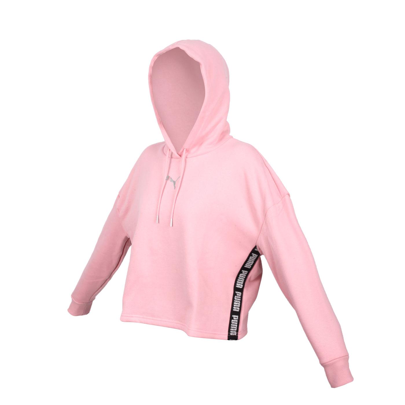 PUMA 女款長厚連帽T恤 58714814 - 玫瑰粉銀