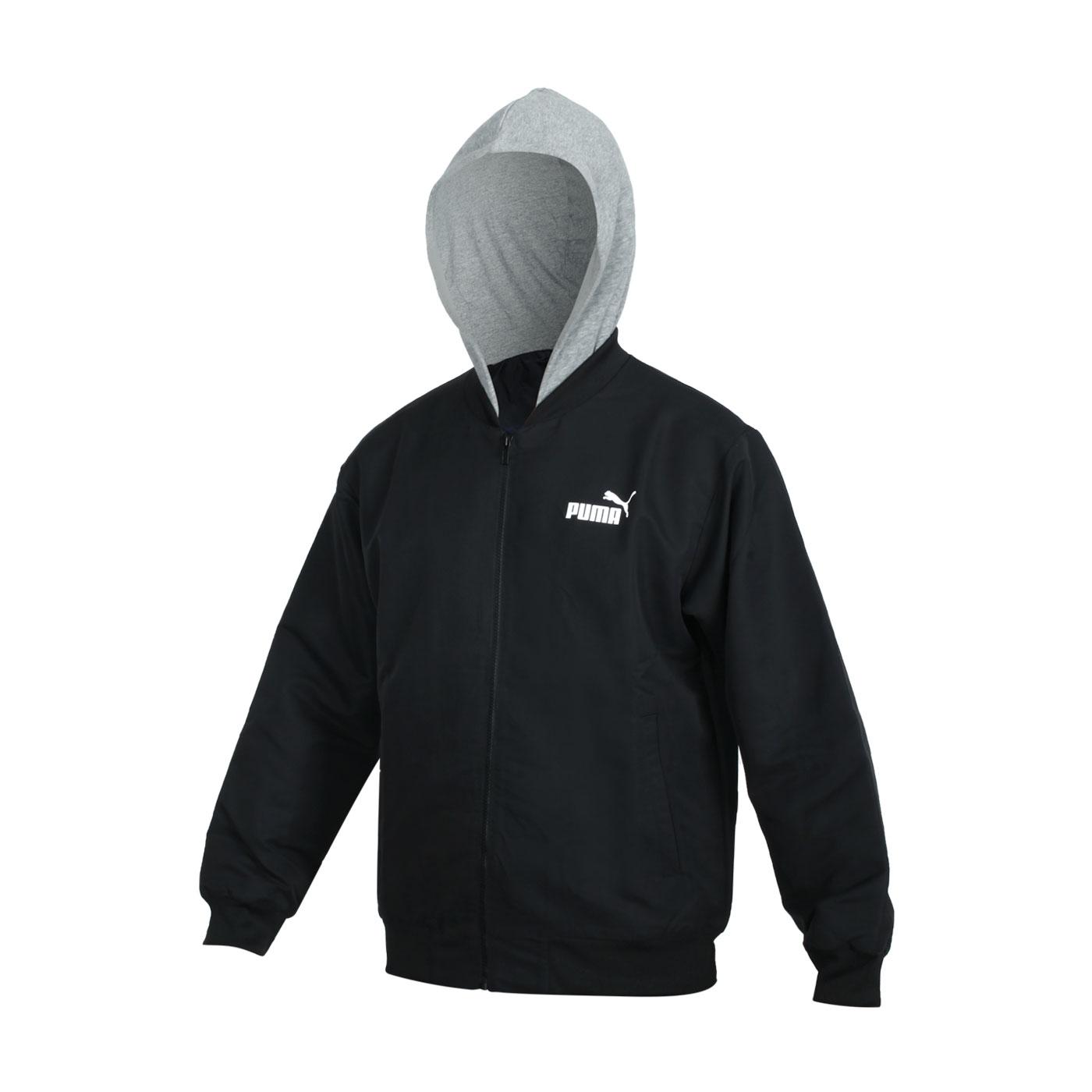 PUMA 男款基本系列連帽外套 58715301 - 黑灰白