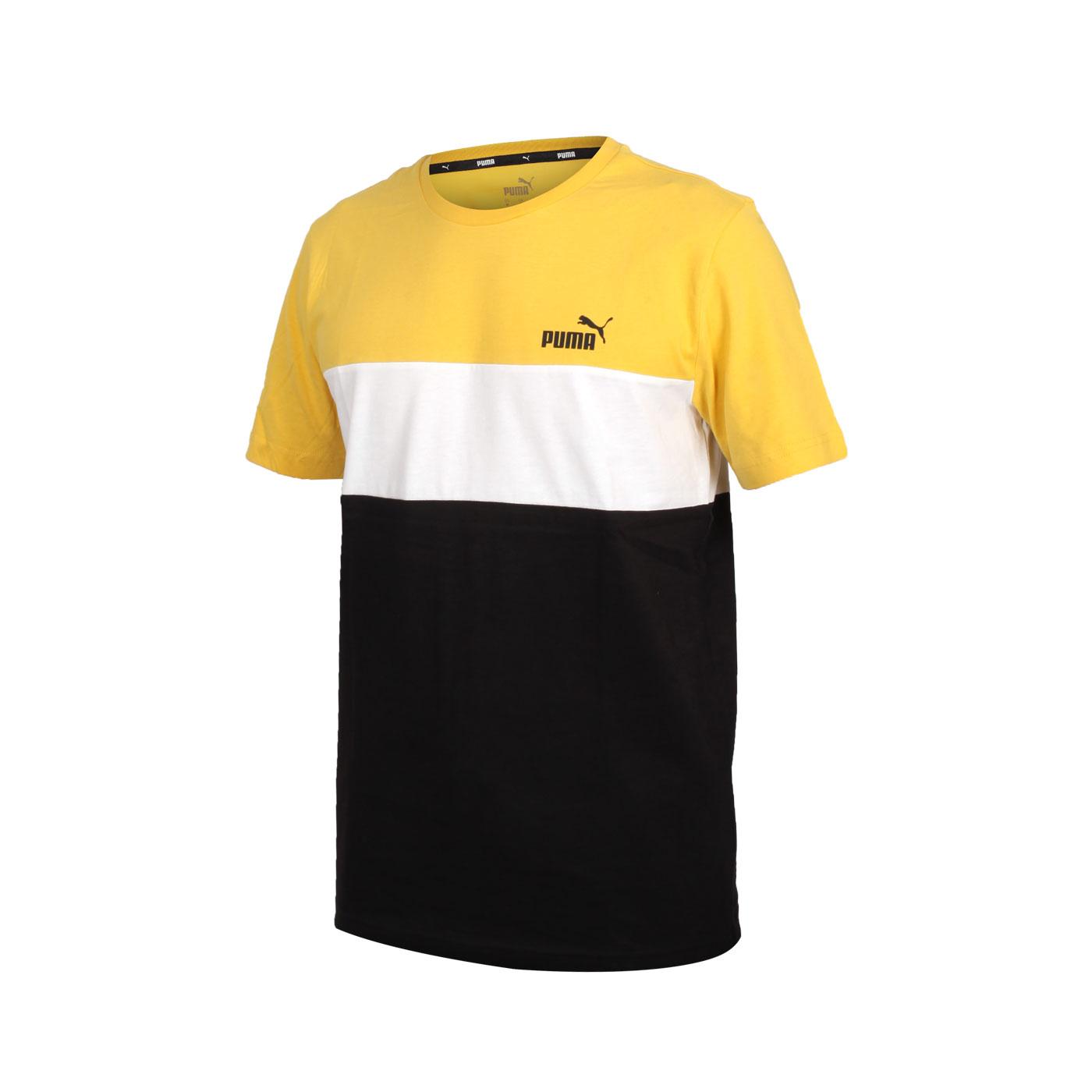 PUMA 男款基本系列短袖T恤 58715999 - 黃白黑