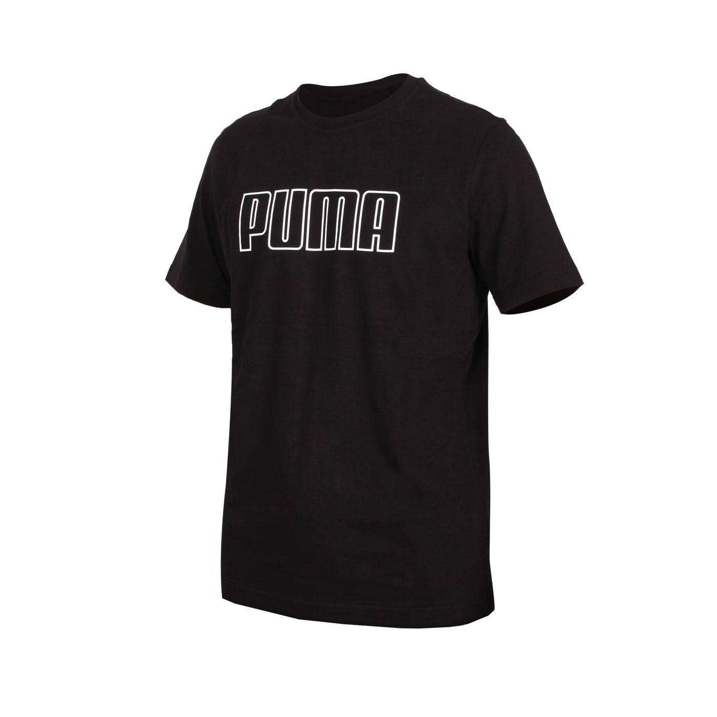 PUMA 男款基本系列短袖T恤 58716001 - 黑白