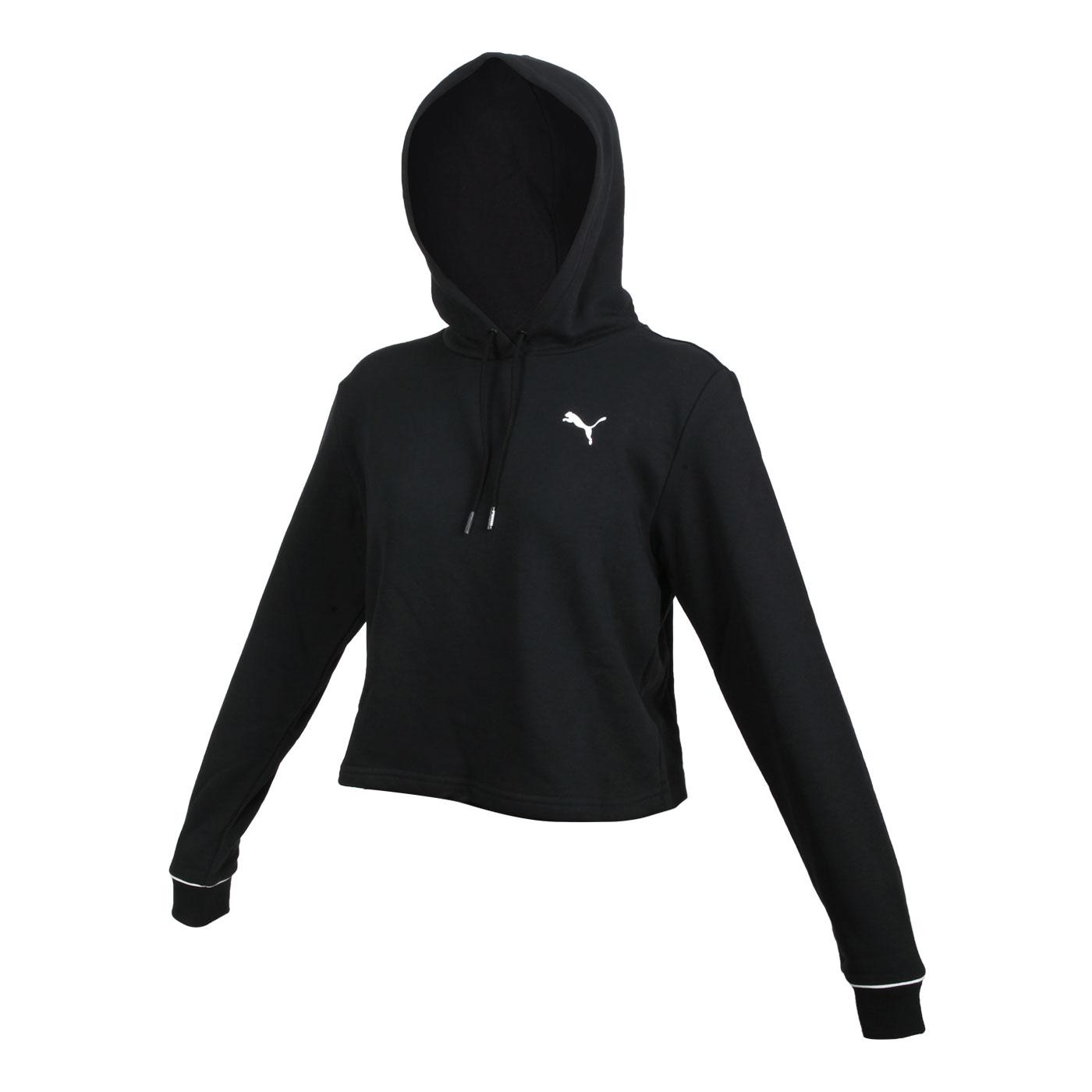 PUMA 女款長厚連帽T恤 58716201 - 黑白