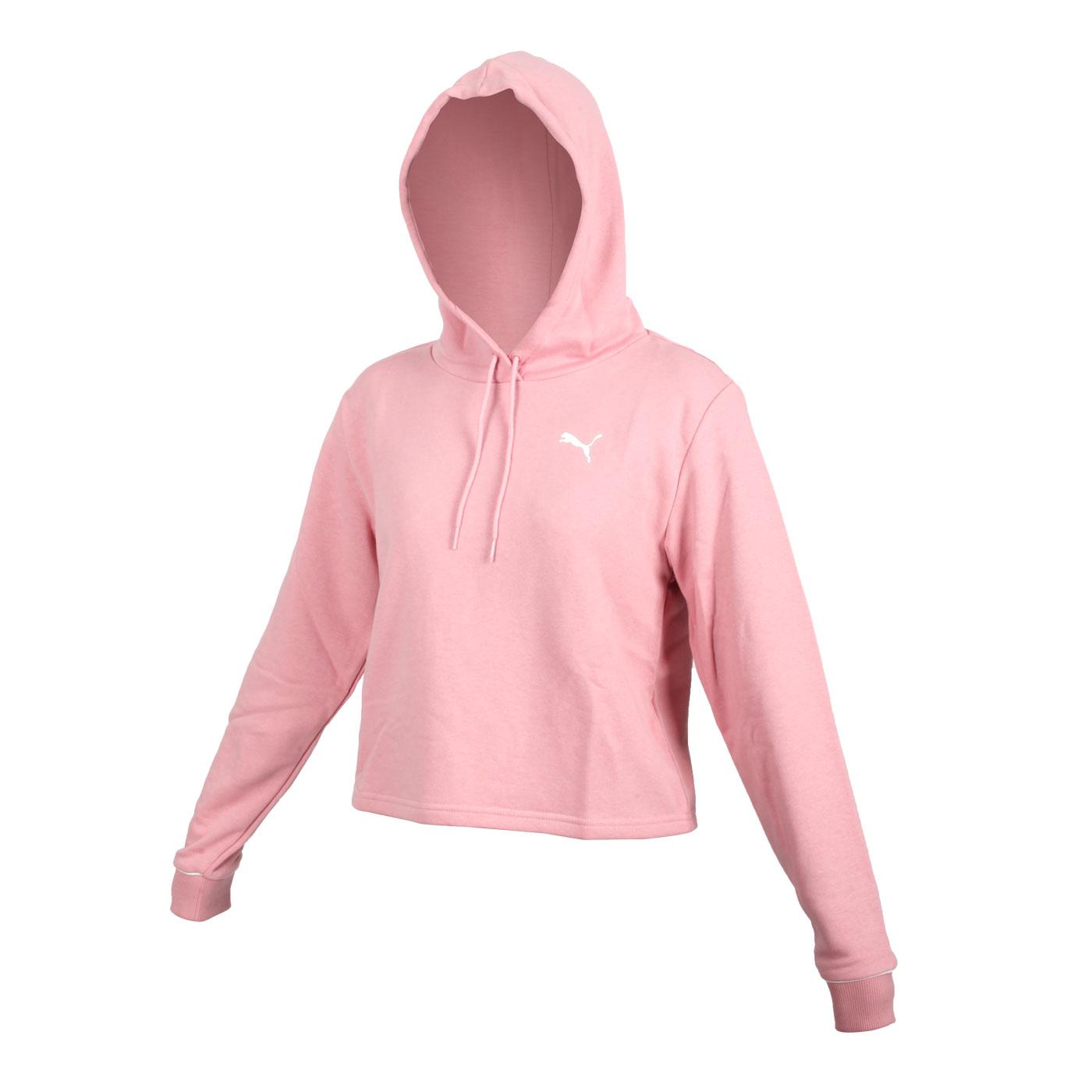 PUMA 女款長厚連帽T恤 58716214 - 粉紅白