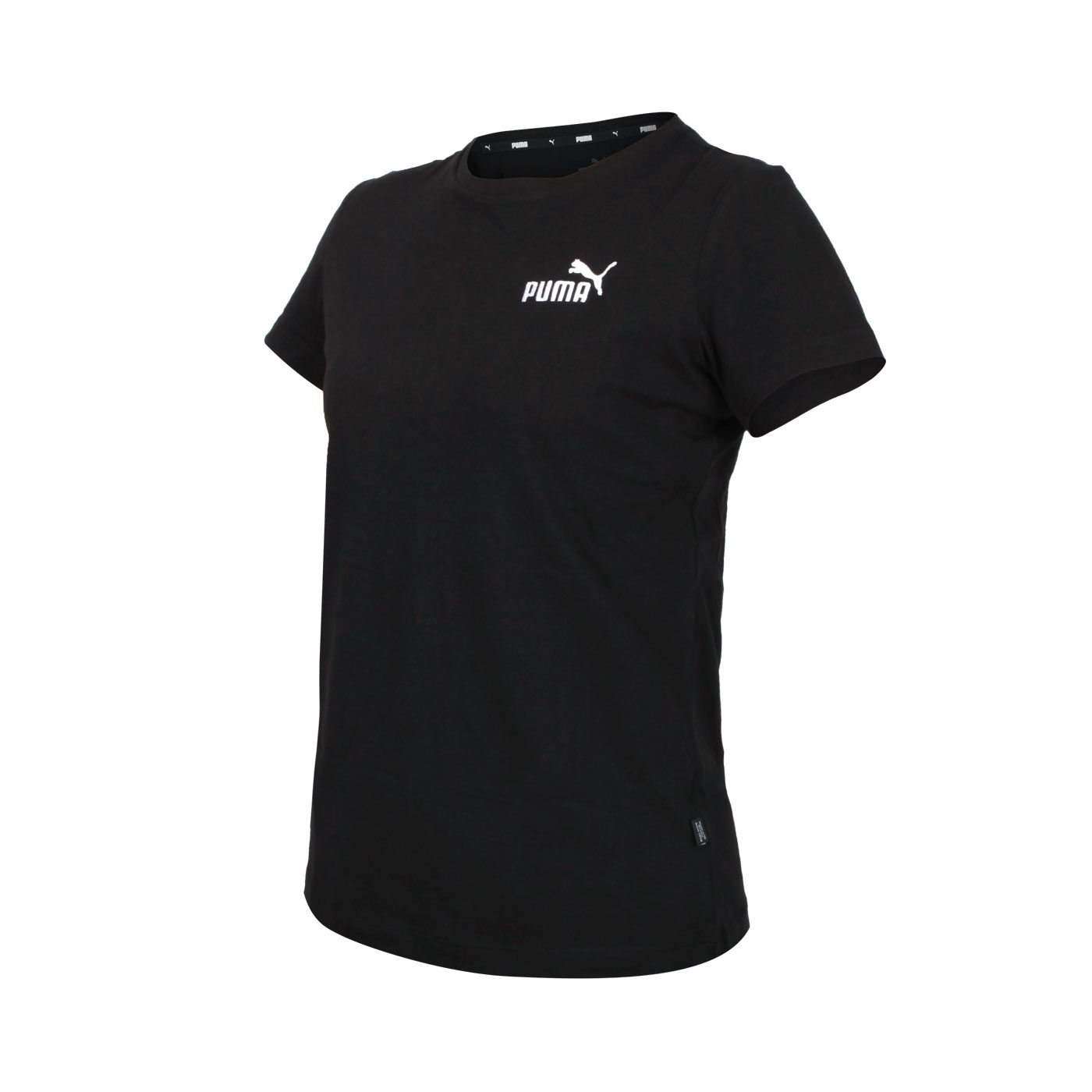 PUMA 女款基本系列Ess刺繡短袖T恤 58790151 - 黑白