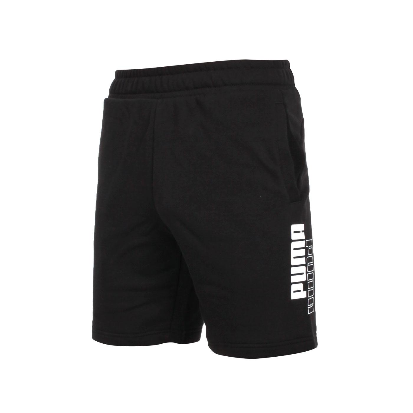 PUMA 基本系列Power Logo男款8吋短褲 58941301 - 黑白