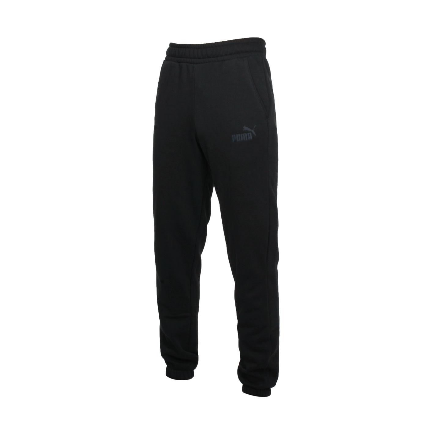 PUMA 男款基本系列ESS+束口長褲 58943801 - 黑