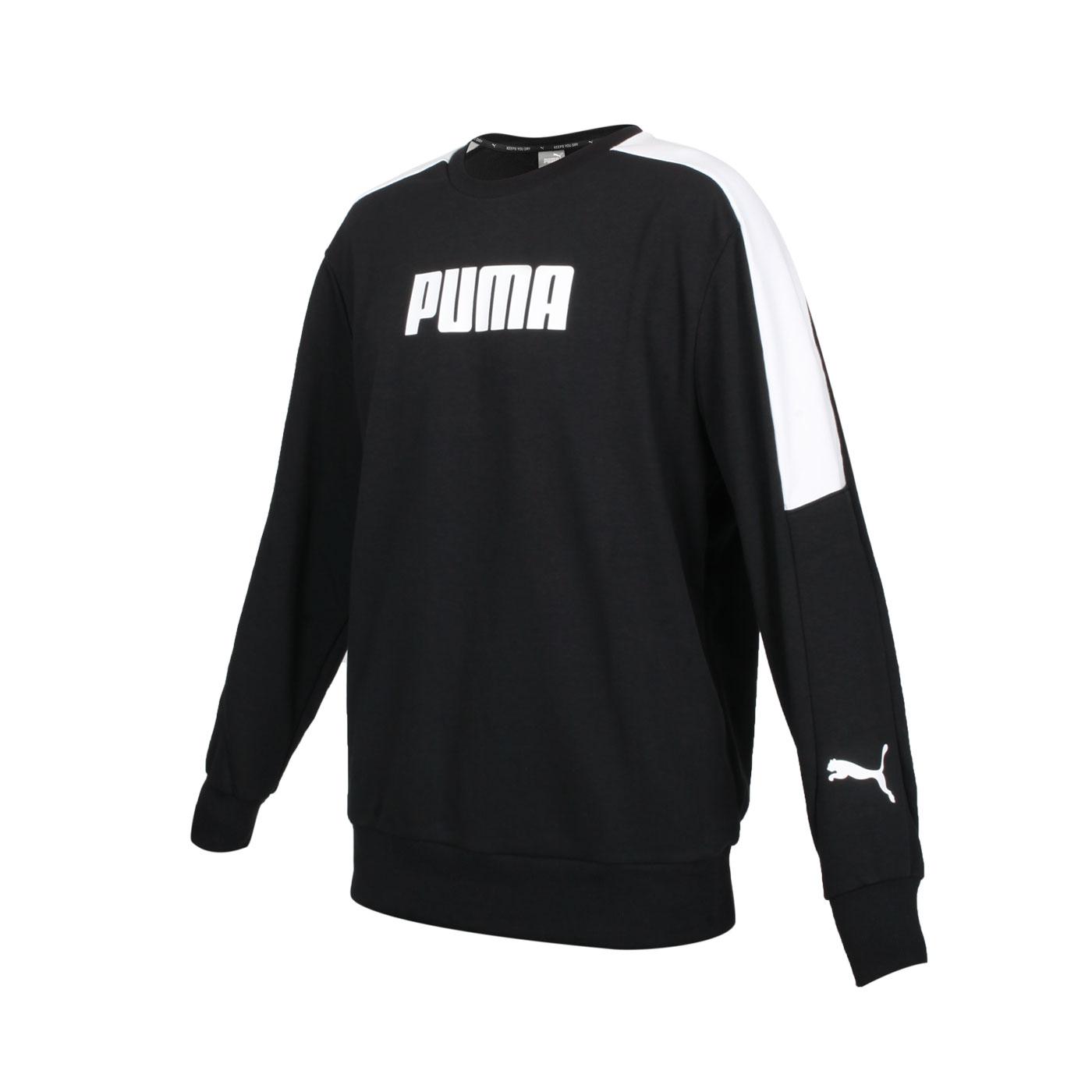 PUMA 男款基本系列Modren Sports長袖圓領T恤 58947401 - 黑白