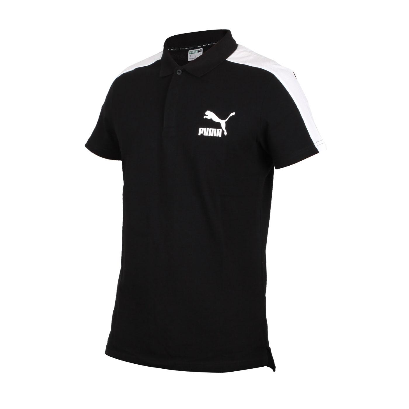 PUMA 男款短袖POLO衫 59644901 - 黑白