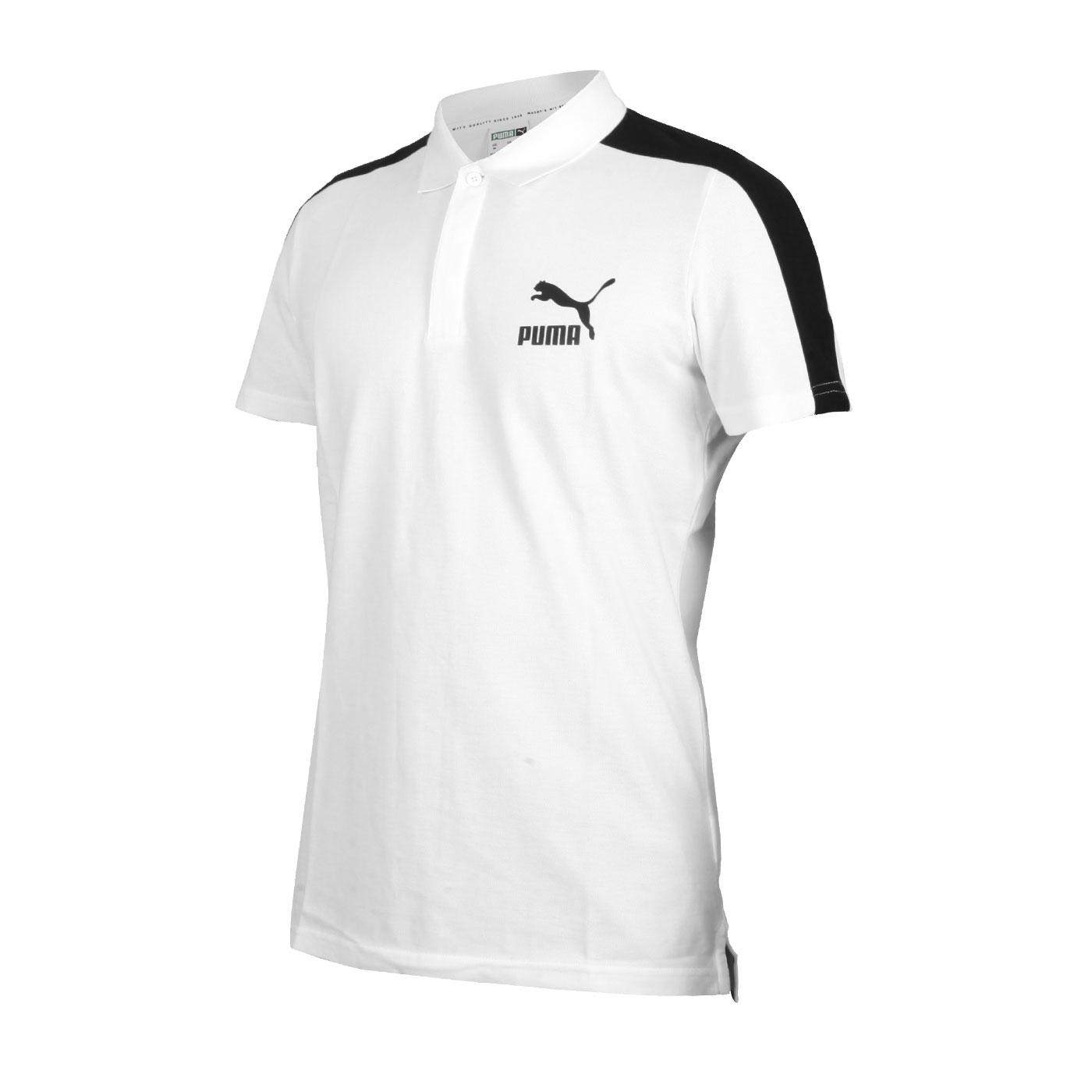 PUMA 男款短袖POLO衫 59644901 - 白黑