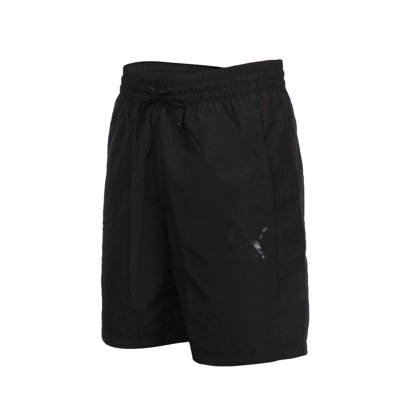 PUMA 男款8吋短風褲 59768601 - 黑