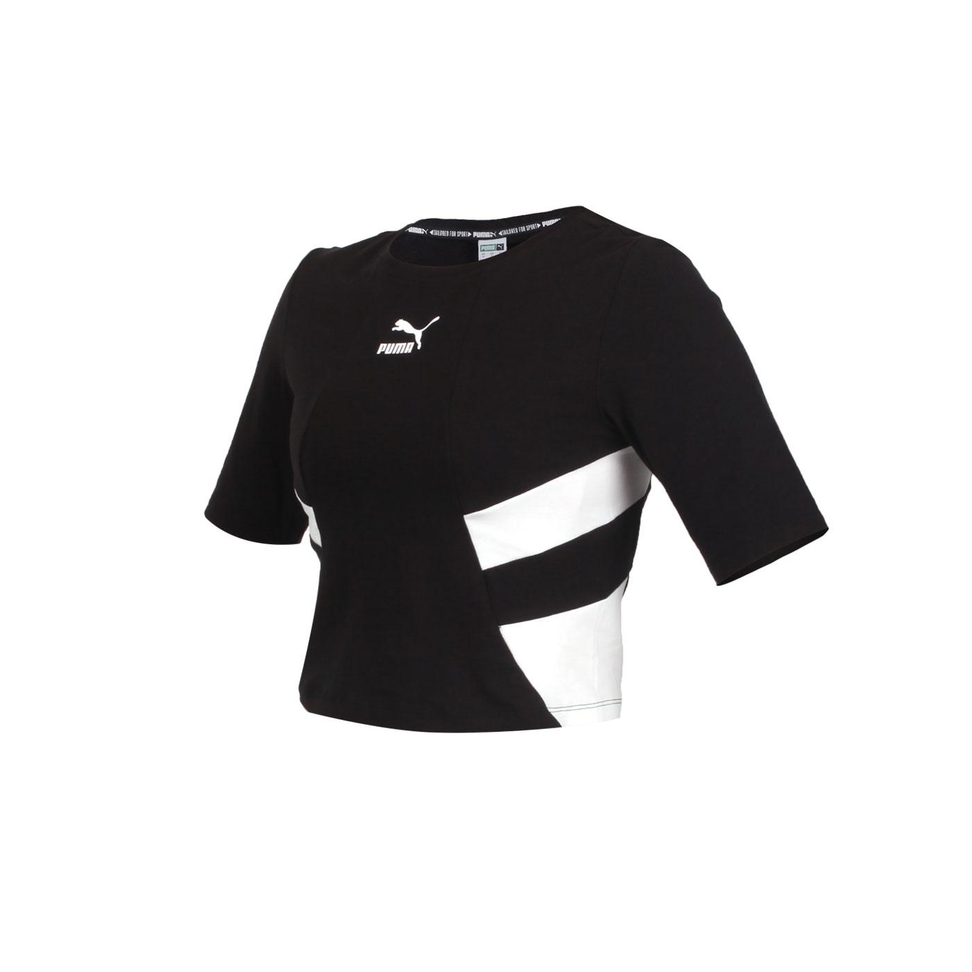 PUMA 女款流行系列TFS短版短袖T恤 59775001 - 黑白
