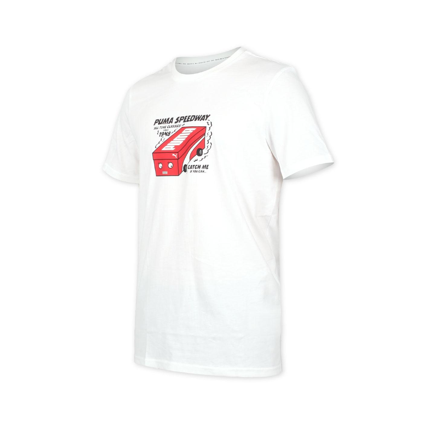 PUMA 男款流行系列短袖T恤 59862752 - 白紅黑