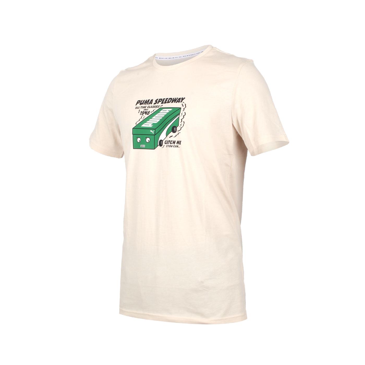 PUMA 男款流行系列短袖T恤 59862752 - 淺卡其綠黑