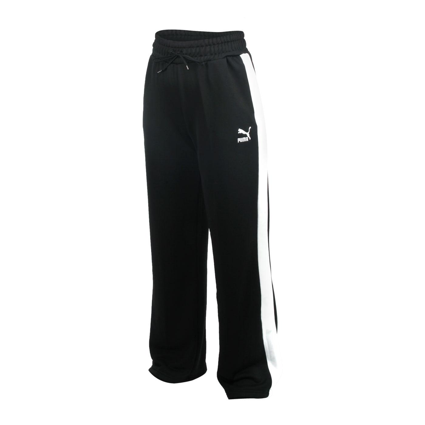 PUMA 女款流行系列寬版長褲 59885401 - 黑白