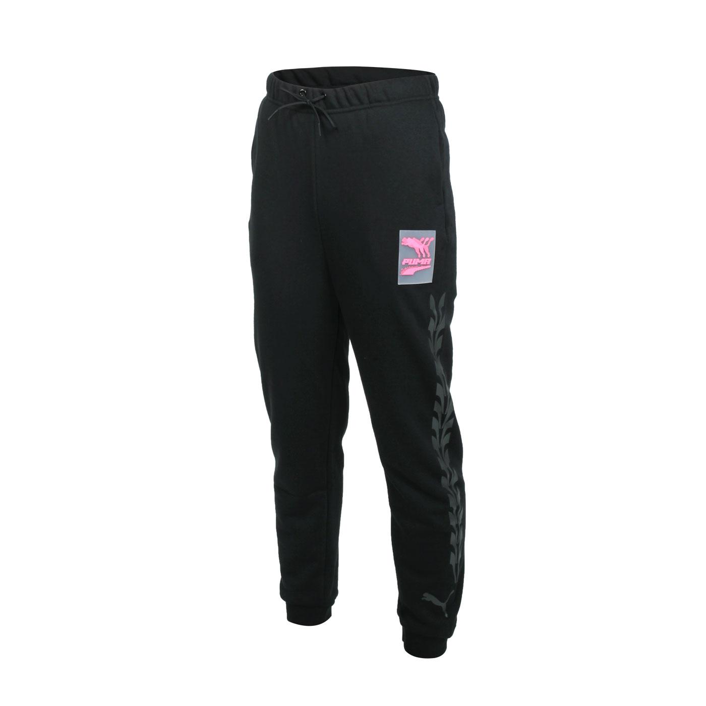 PUMA 女款流行系列運動長褲 59919051 - 黑透明粉灰