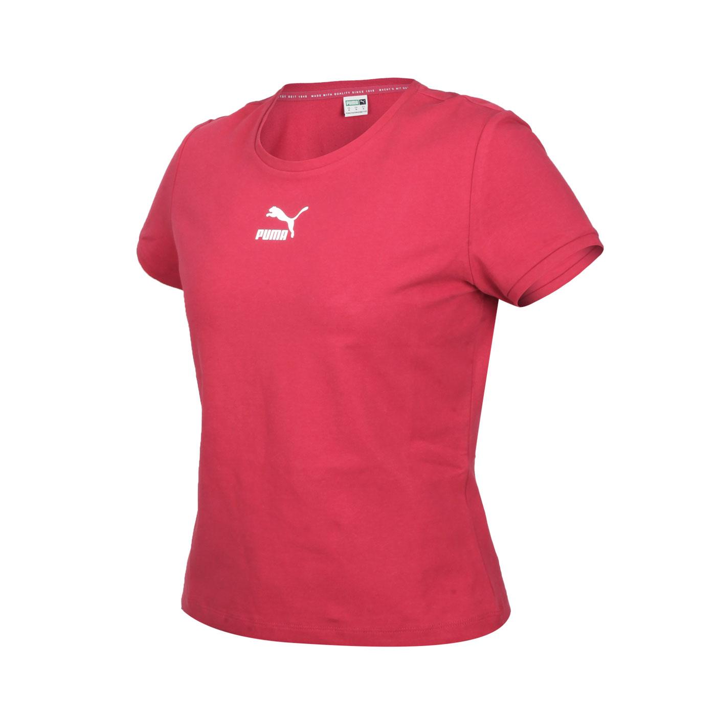 PUMA 女款基本系列Classics貼身短袖T恤 59957722 - 紅白