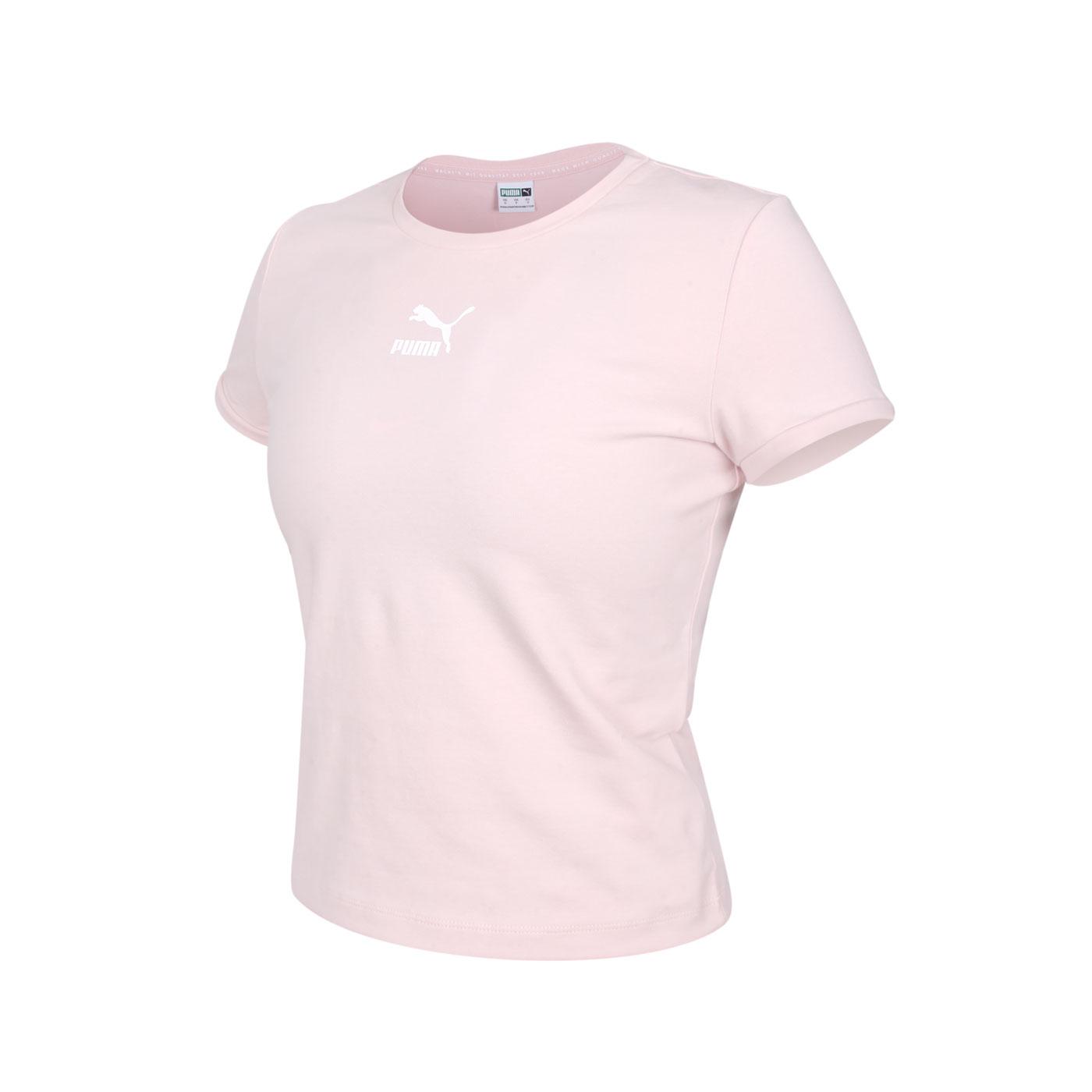PUMA 女款流行系列Classics貼身短袖T恤 59957736 - 粉紅白