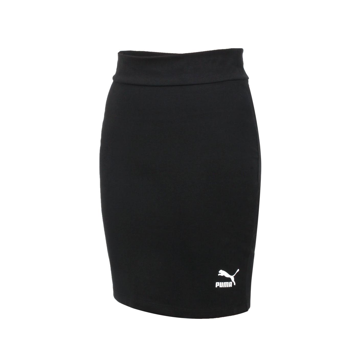 PUMA 女款Classics短裙 59959601 - 黑白