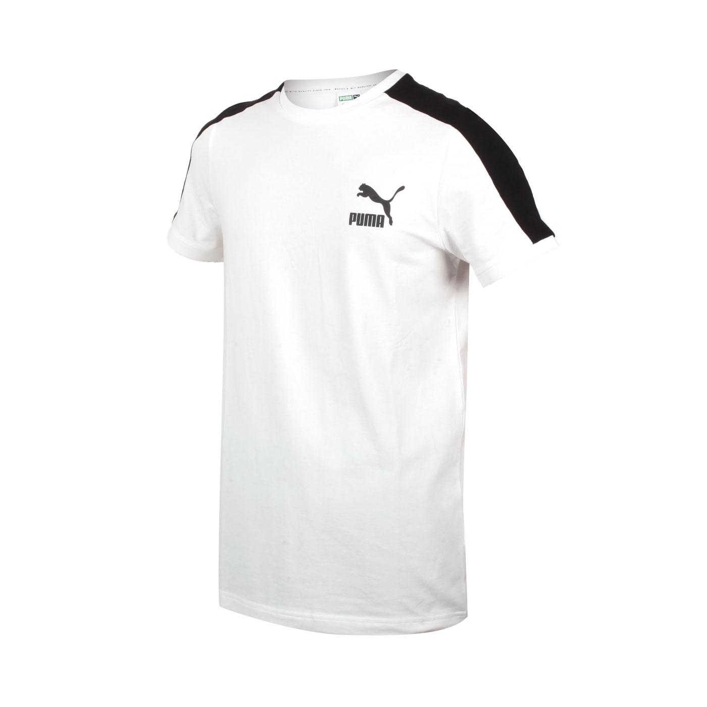 PUMA 男款T7短袖T恤 59986902 - 白黑