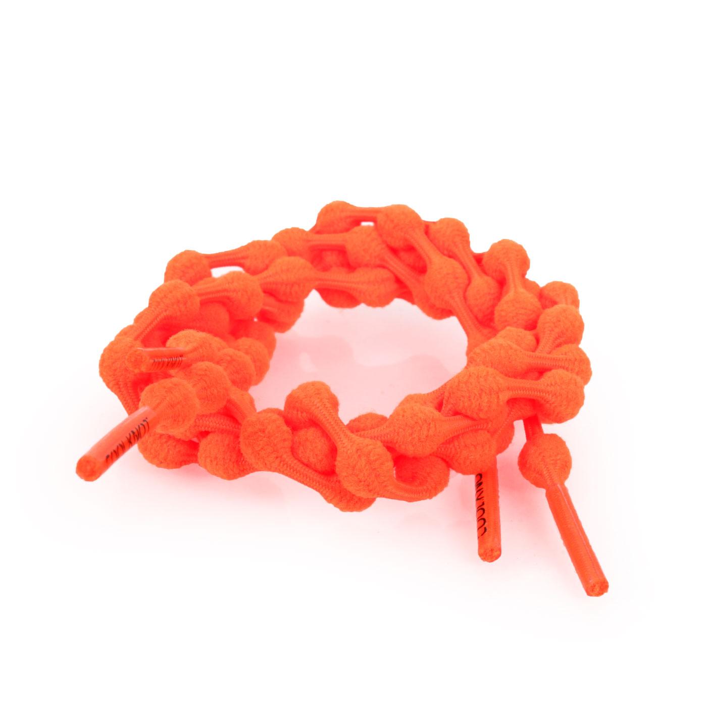 COOLKNOT 豆豆鞋帶(舒適款)60CM 6026201 - 螢光橘