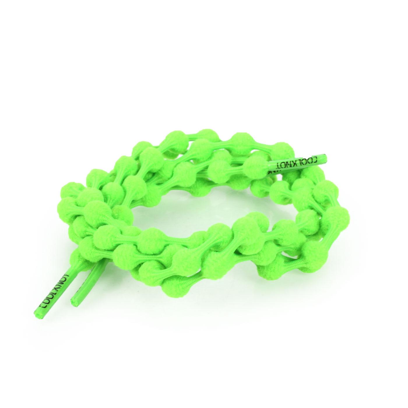 COOLKNOT 豆豆鞋帶(舒適款)60CM 6026201 - 螢光綠