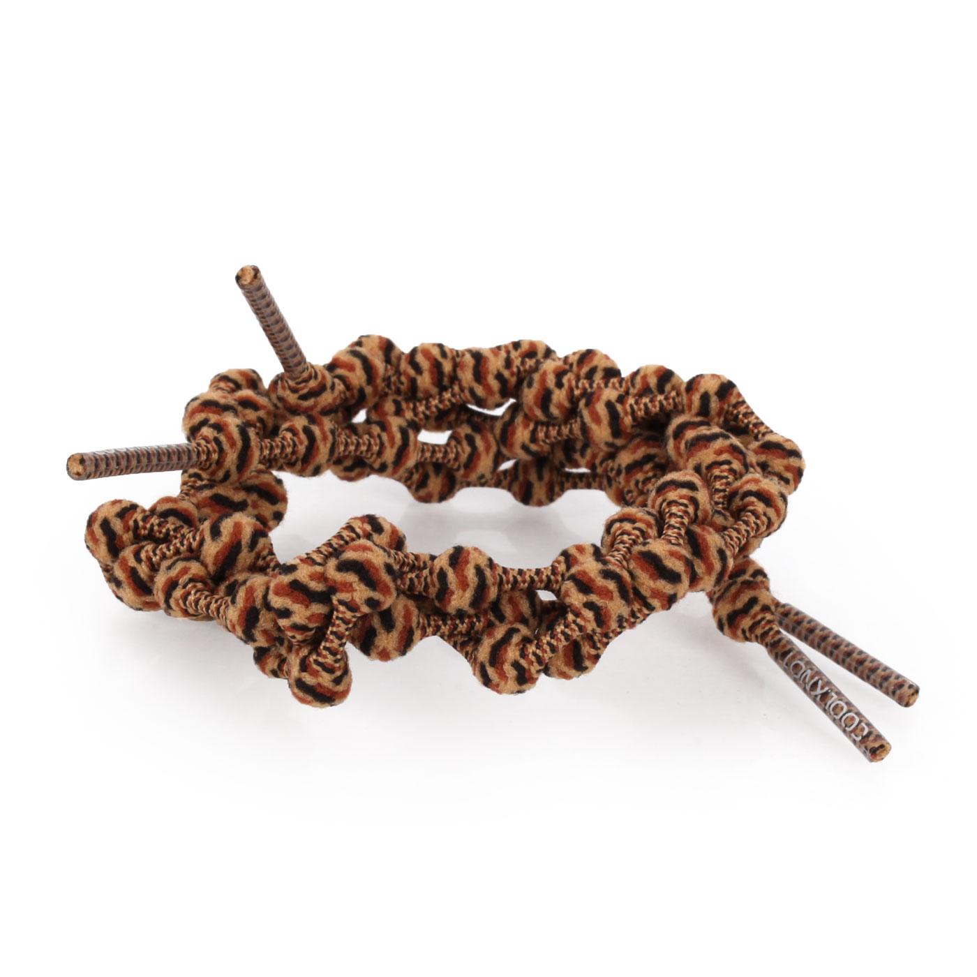 COOLKNOT 豆豆鞋帶(舒適款)60CM 6026201 - 豹紋黑咖啡