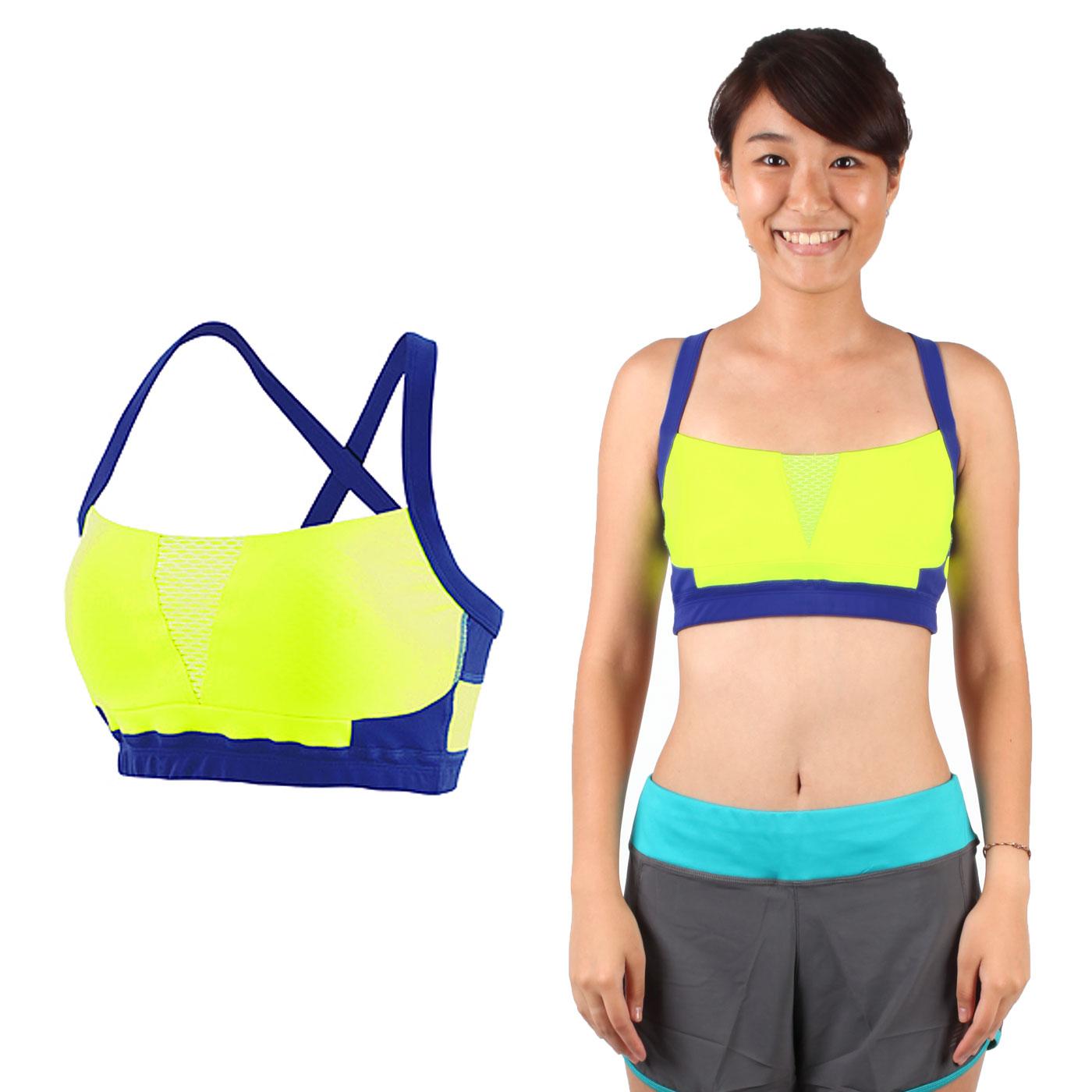 NEW BALANCE 女款運動內衣 6111520235 - 螢光黃藍