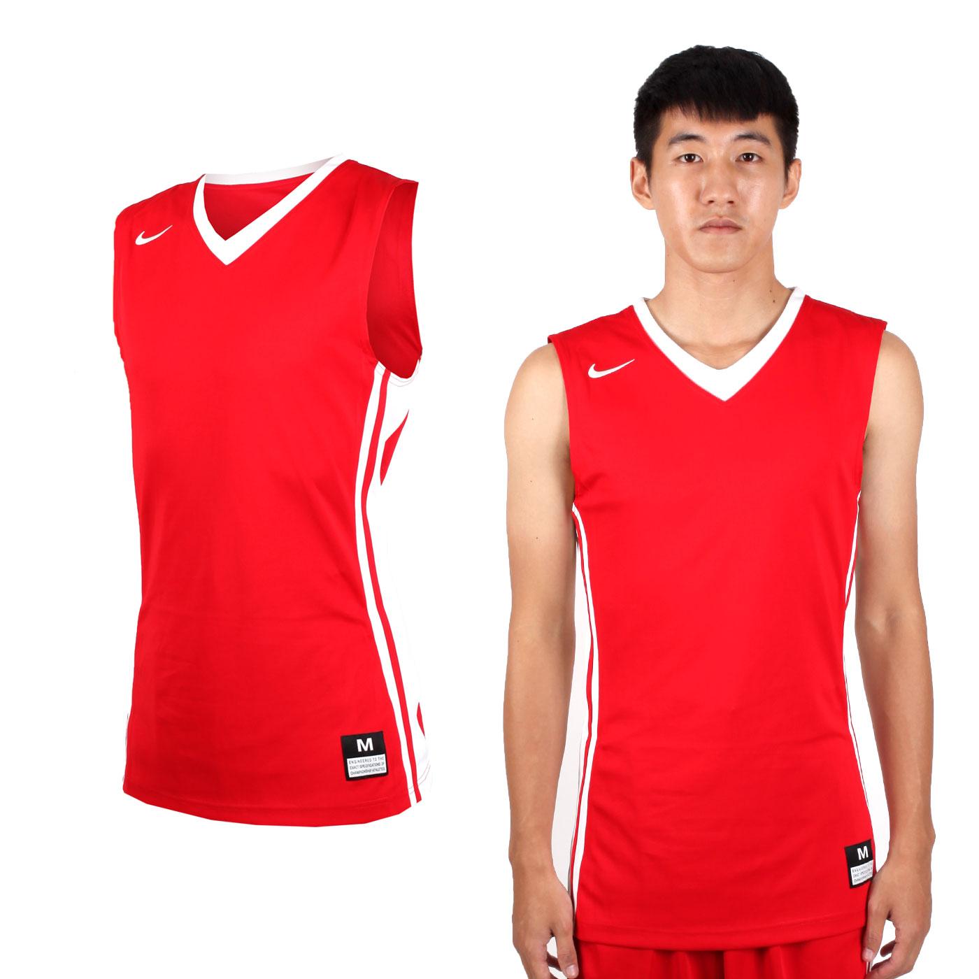 NIKE 男款V領籃球針織背心 639395342 - 紅白