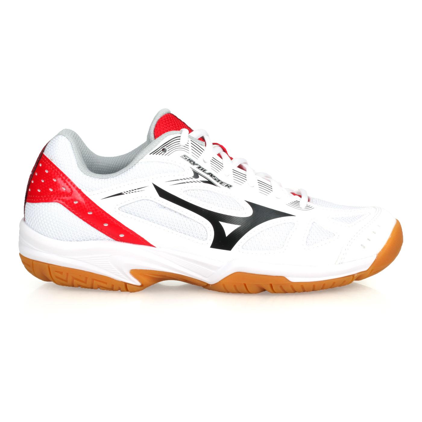 MIZUNO 羽球鞋  @SKY BLASTER@71GA194563 - 白白黑紅