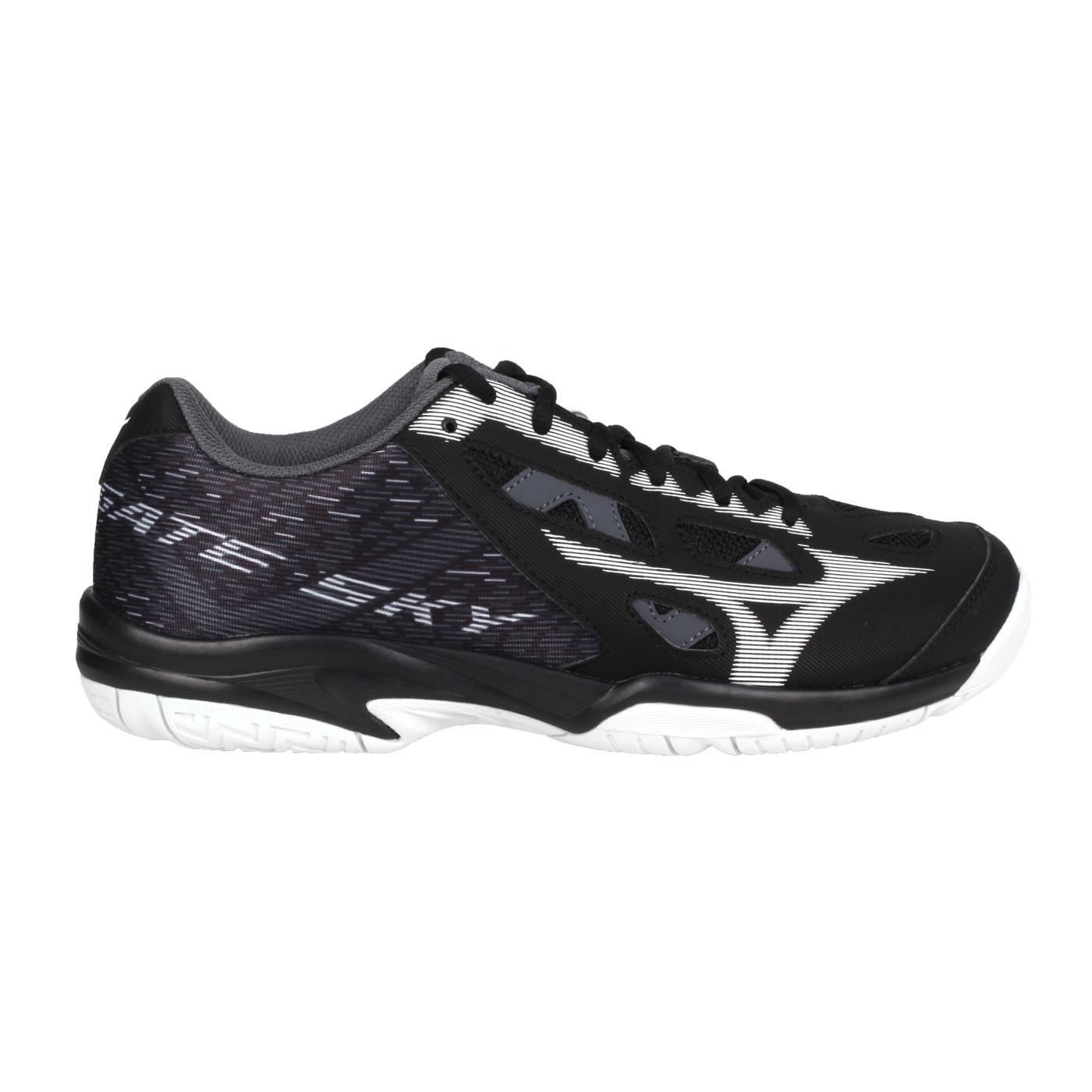 MIZUNO 男款羽球鞋-WIDE  @GATE SKY plus@71GA204009 - 黑白灰