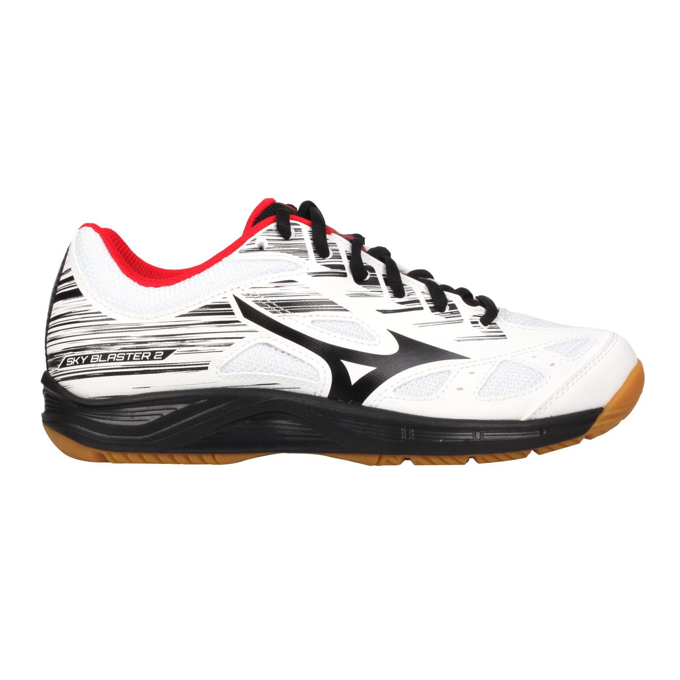 MIZUNO 男女羽球鞋  @SKY BLASTER 2@71GA204509 - 白黑紅
