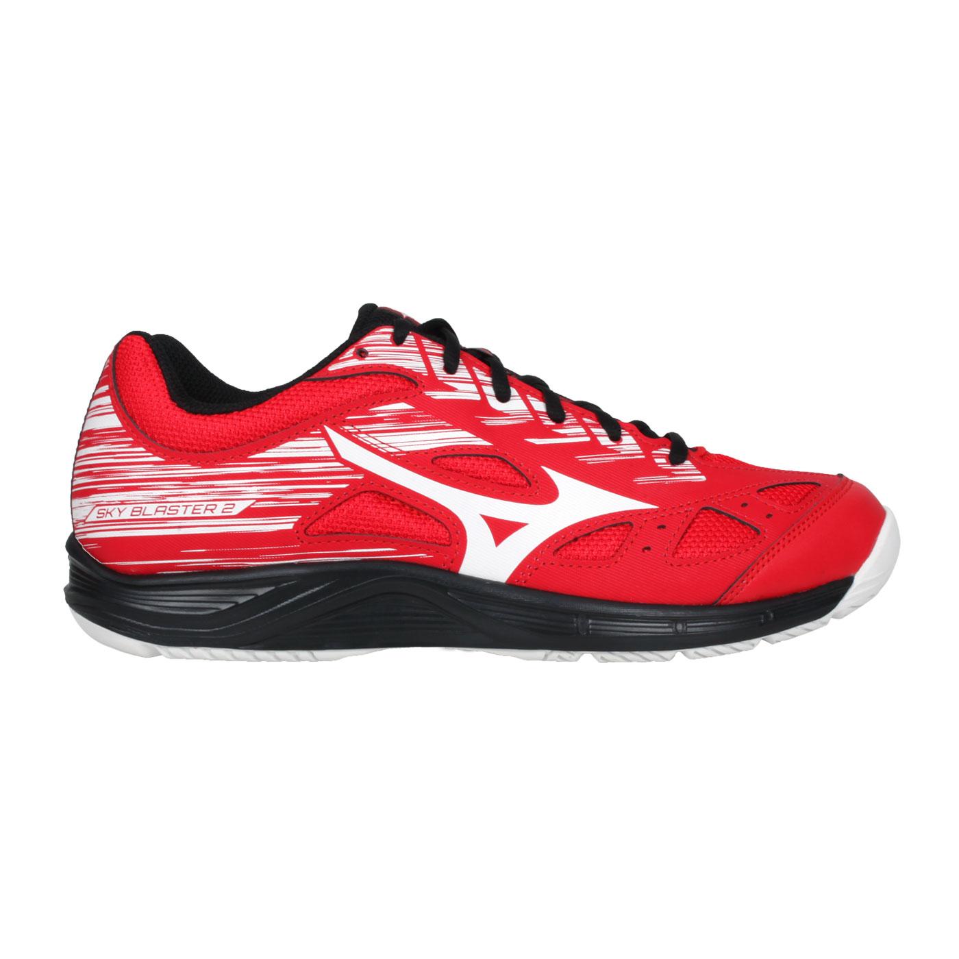 MIZUNO 男款羽球鞋   @SKY BLASTER 2@71GA204563 - 紅白