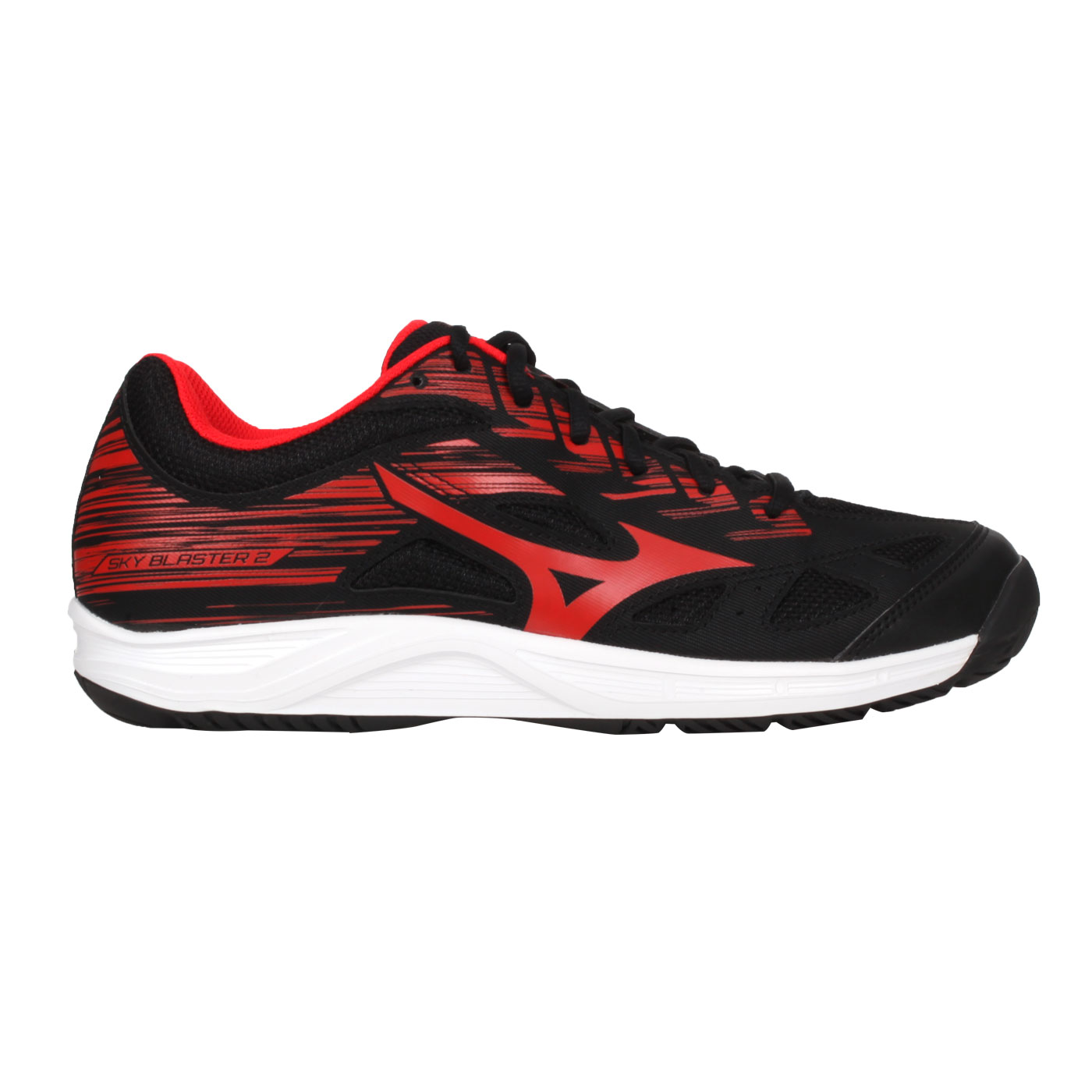 MIZUNO 男款羽球鞋  @SKY BLASTER 2@71GA204596 - 黑紅