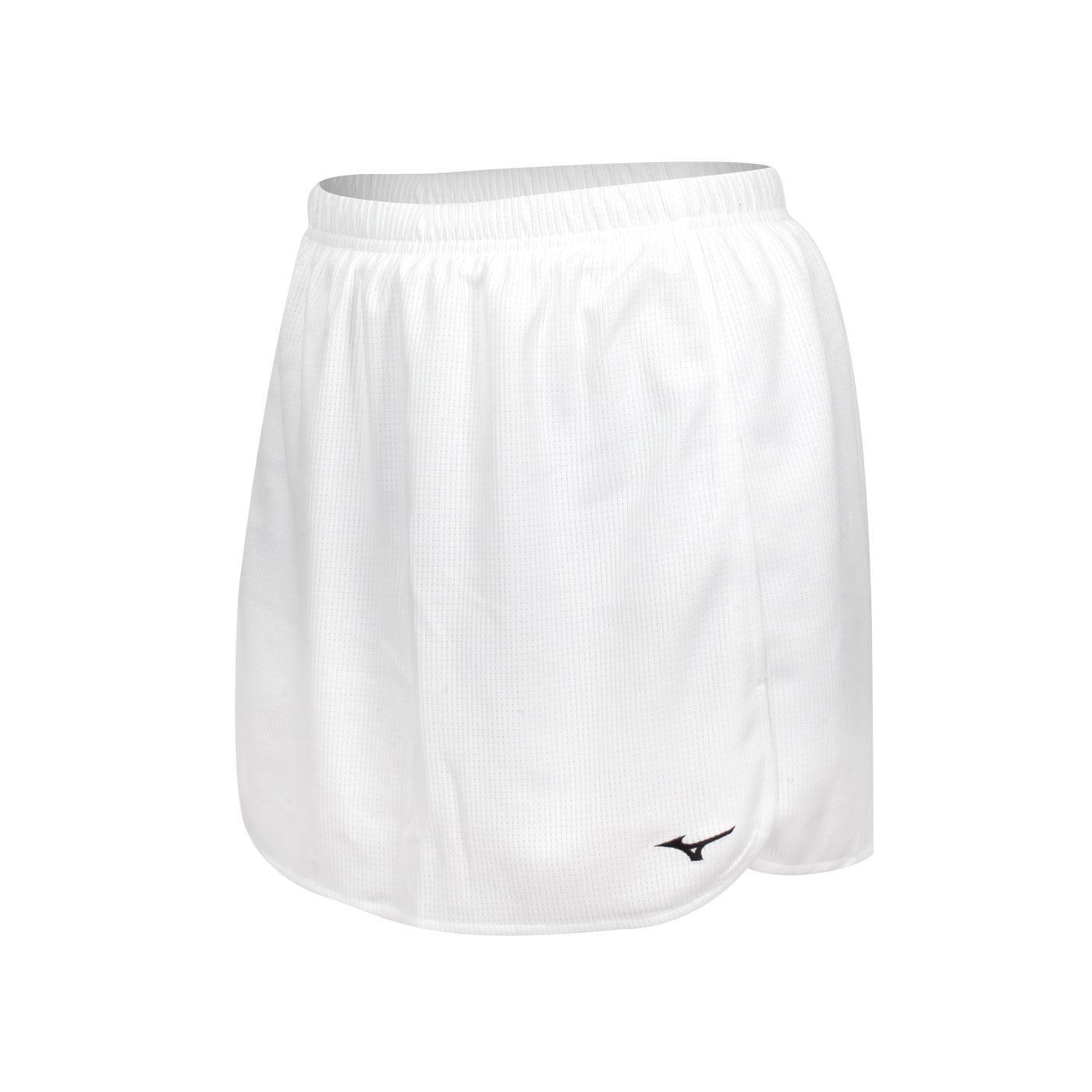 MIZUNO 女款羽球短裙 72TB1C0101 - 白黑