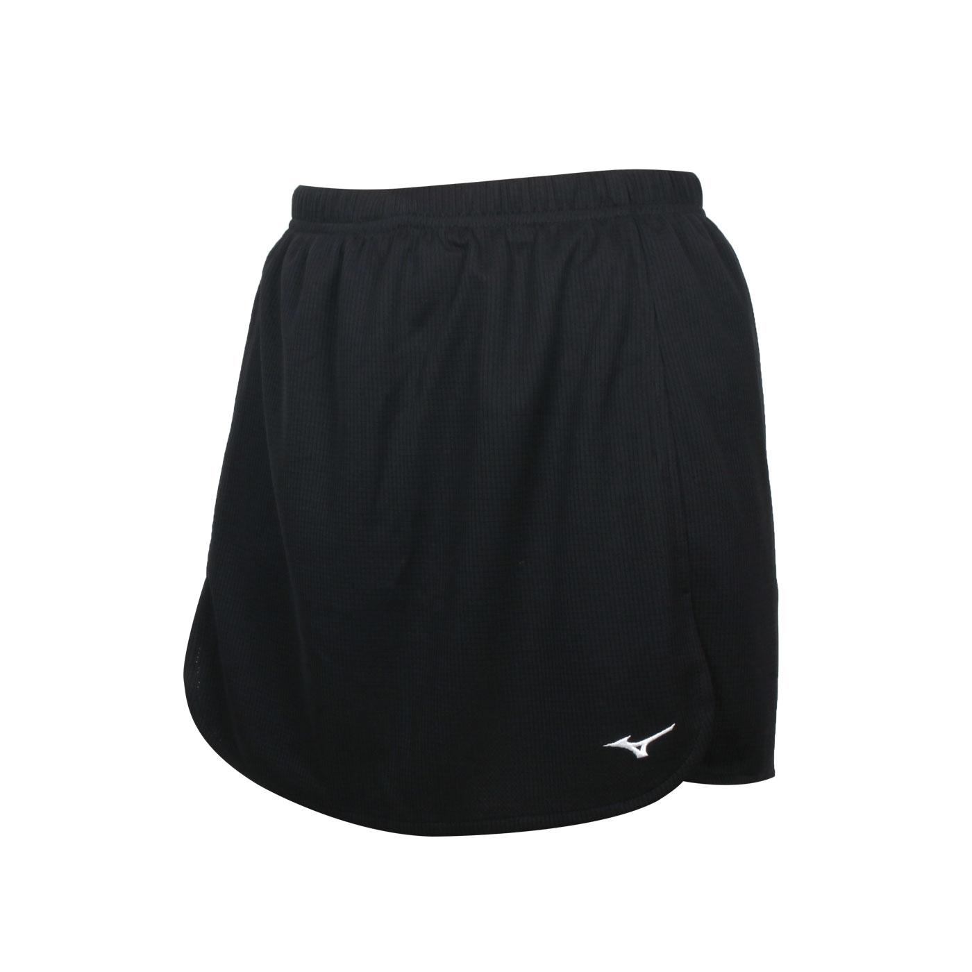 MIZUNO 女款羽球短裙 72TB1C0109 - 黑白