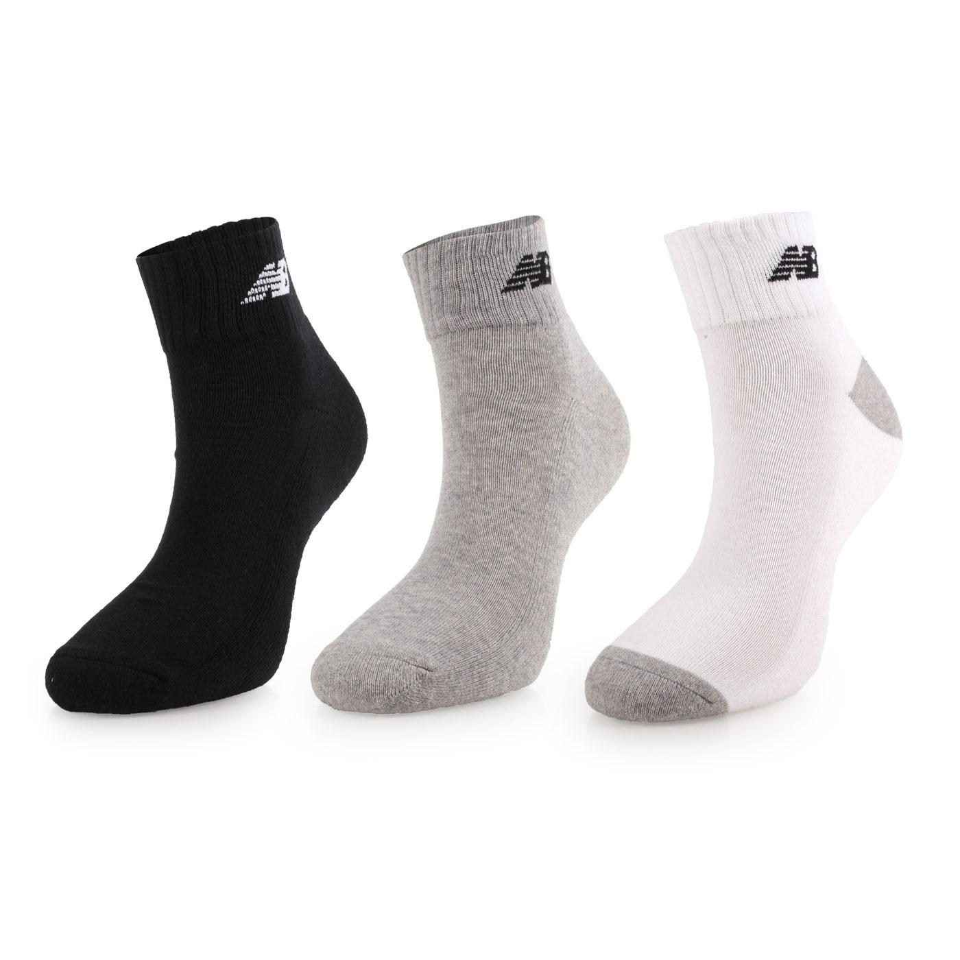 NEW BALANCE 運動短襪(3入) 7831810200 - 黑灰白