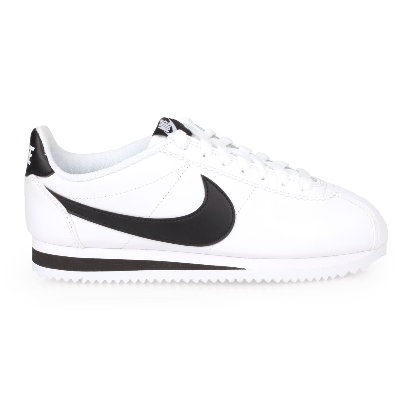 NIKE 女款休閒鞋  @WMNS CLASSIC CORTEZ LEATHER@807471101 - 白黑