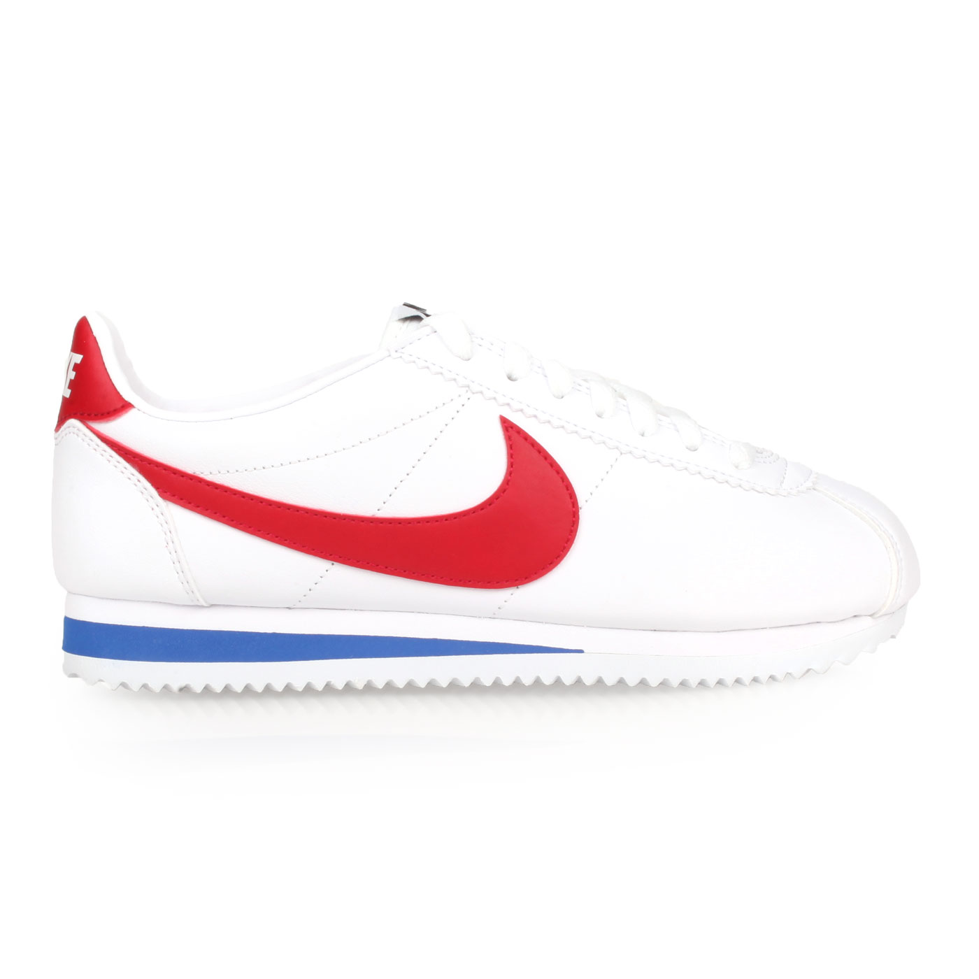 NIKE 女款休閒鞋  @WMNS CLASSIC CORTEZ LEATHER@807471101 - 白紅藍