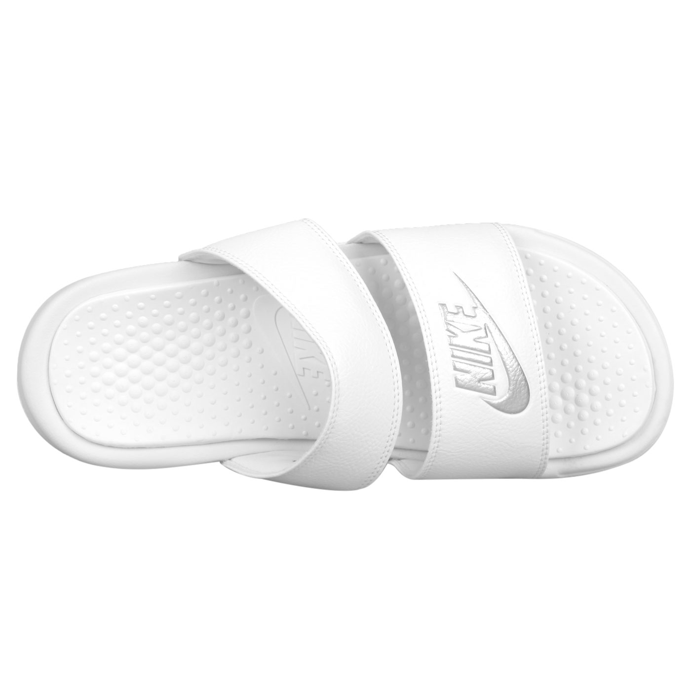 NIKE 女涼拖鞋  @WMNS BENASSI DUO ULTRA SLIDE@819717010 - 白銀