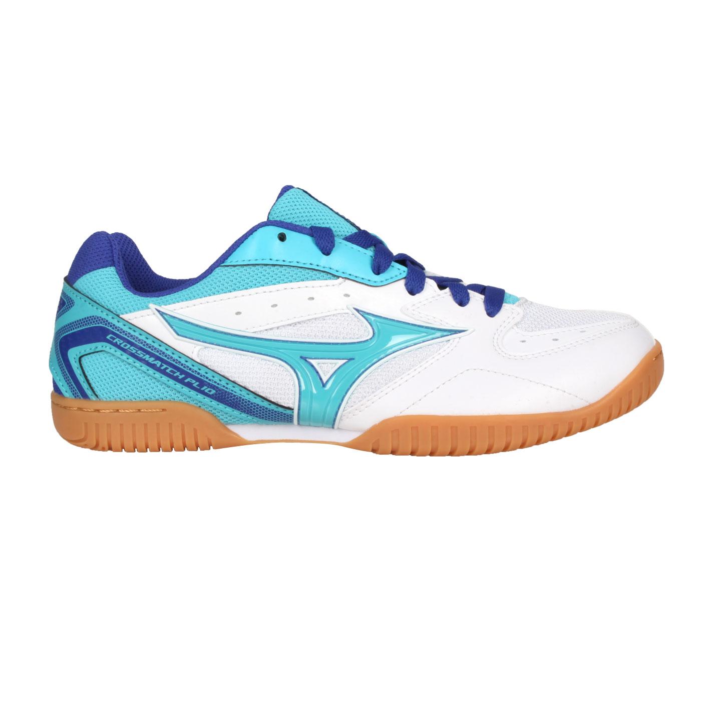 MIZUNO 女款桌球鞋  @CROSSMATCH PLIO RX4@81GA183026 - 水藍白藍